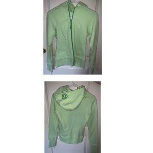 Neon green Lululemon scuba hoodie RARE